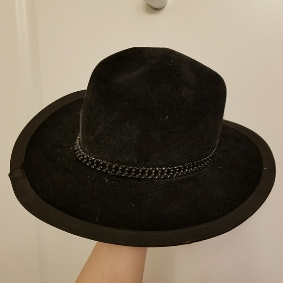 Vintage Velvet Cowboy Hat with Beaded Band. M 5aa35fa63b1608508edc6920 e32bee778ab